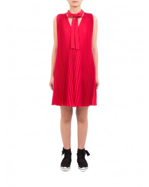 Red Valentino - Abito corto soft fluido color fragola