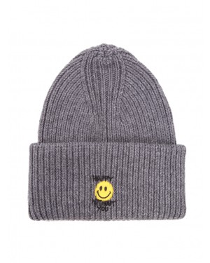 Philosophy - Cappello grigio in misto lana spray me smiley