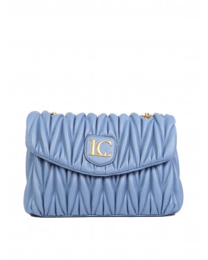 La Carrie - Borsa OLYMPIA BOWLING in ecopelle jeans