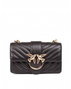 Pinko - Borsa LOVE MINI MIX in morbida pelle nera