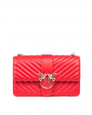 Pinko - Borsa Love Classic mix in morbida pelle rossa