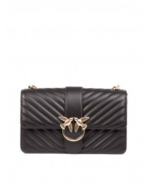Pinko - Borsa rossa Love Classic mix in morbida pelle