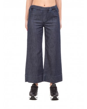Cigala's - Pantaloni in denim scuro elasticizzato crop