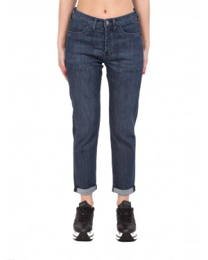 Cigala's - Jeans elasticizzati in denim scuro boyfriend